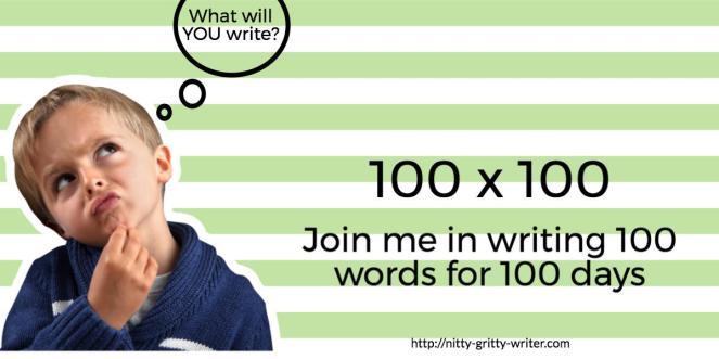 100x100 writing challenge